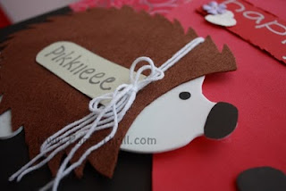 Hedgehog handmade birthday card