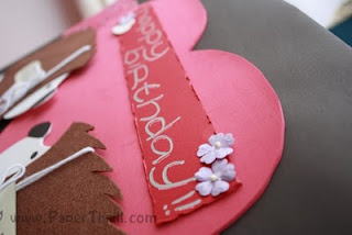 Pop up heart birthday card