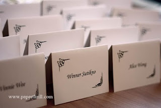 Wedding program book and placecards