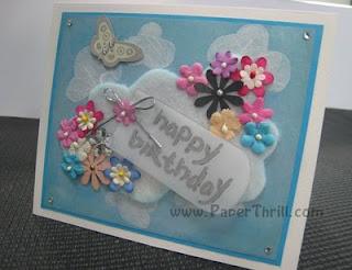Pink cupcake pop up birthday card
