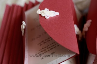 Asian knot handmade wedding invitation