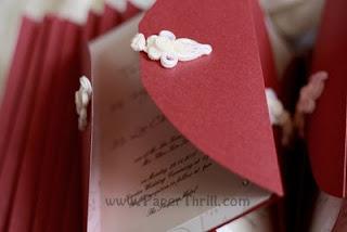 Asian knot handmade wedding invitation