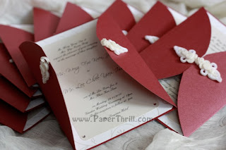 Chinese knot handmade wedding invitation