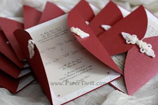 Chinese knot handmade wedding invitation