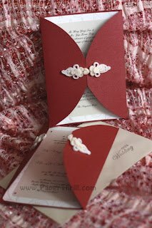 Handmade oriental wedding card