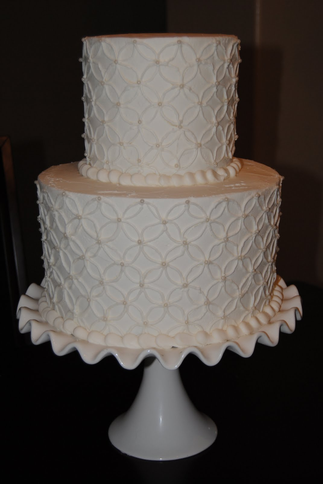 Buttercream Lace Wedding Cakes Viewing Gallery