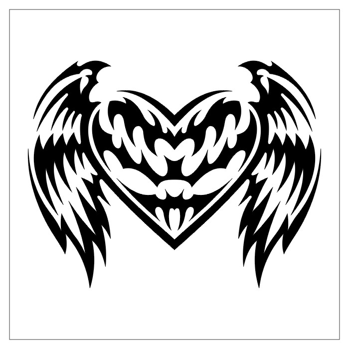 heart designs for tattoos. tribal heart tattoo designs.