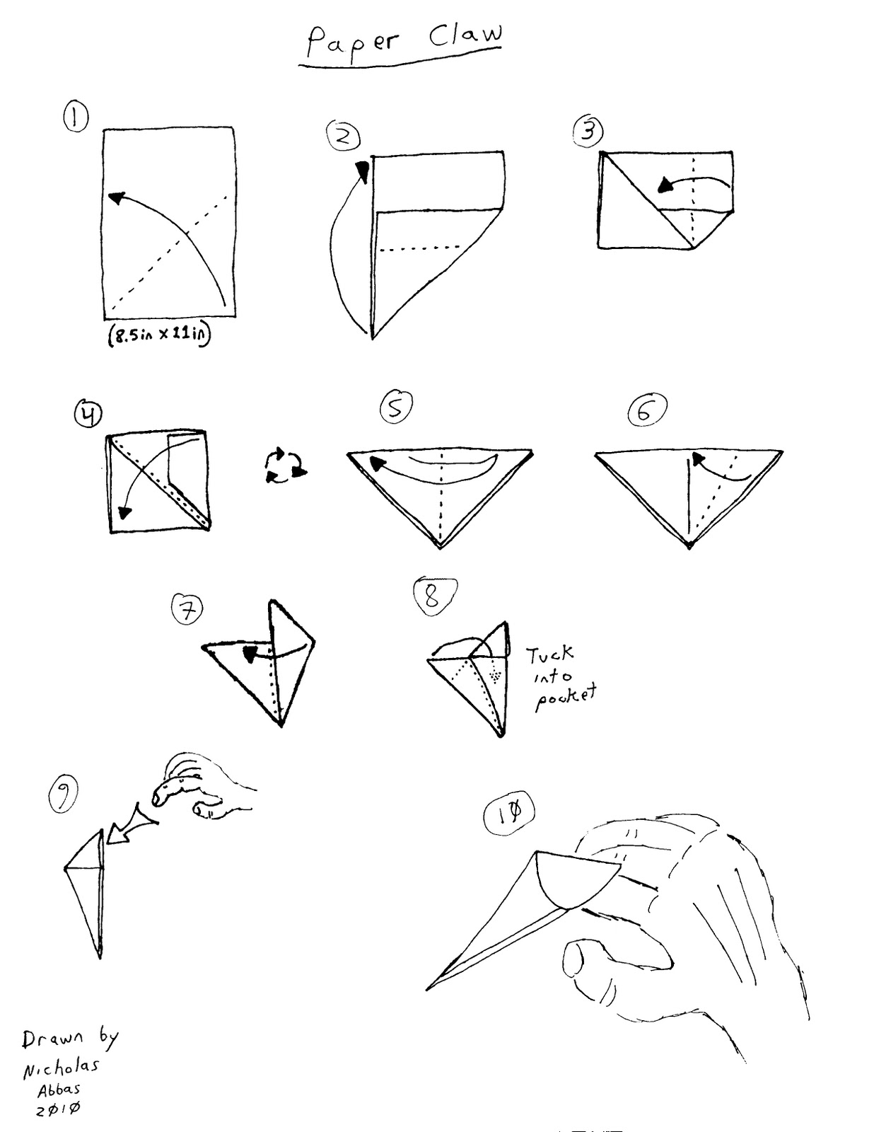 how to make origami general grievous instructions
