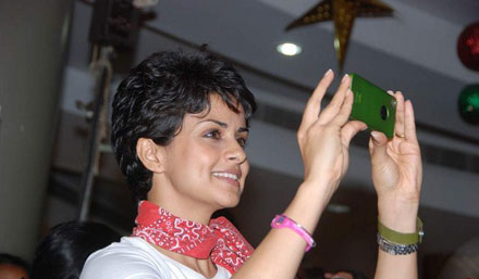 gul panag in tshirt at turning promotional event at inorbit mall cute stills