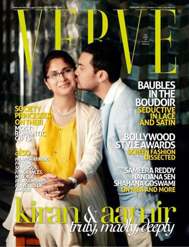 - Aamir Khan Kiran Rao on Verve Mag Cover