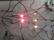3 en raya con LEDs