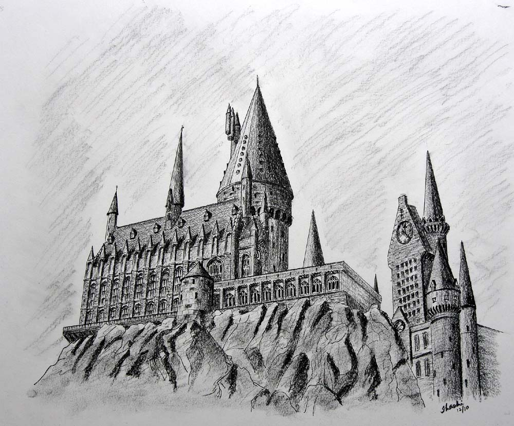 Hogwarts Castle Drawing Hollywood Homecoming 2014