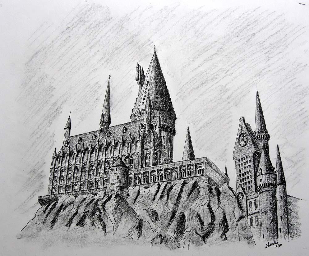 Hogwarts Castle Drawing Hollywood Homecoming 2014 Pinterest