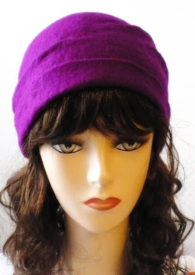 Purple felt hat :  woman fashion handmade dodoo