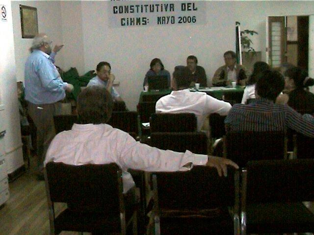 Asamblea constitutiva de CIHMS A.C., 27 de mayo de 2006