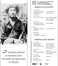 II Jornada cultural en memoria de los detenidos desaparecidos en México, 29 y 30 de agosto de 200