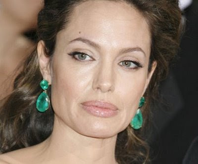 As much air time as Angelina Jolie's ginormous emerald earrings received
