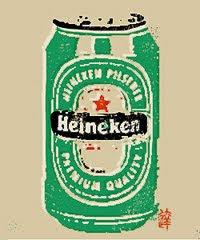 heineken-linocut-print