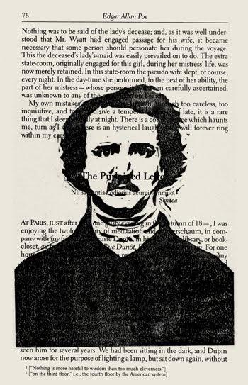 The Monster Blog: Edgar Allan Poe Linocut Print