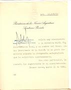 Presidente de la República Argentina Dr. ARTURO ILLIA (1963) presidencia de argentina carta