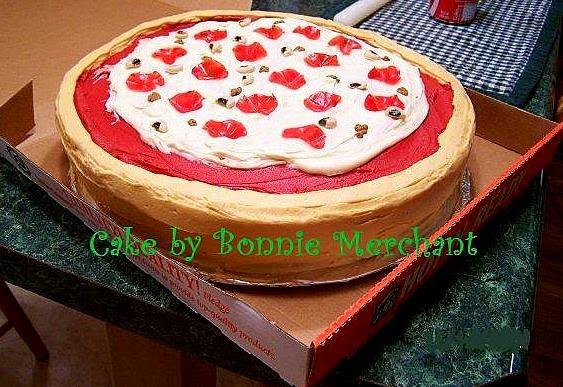 Cake Decorating Ideas Pizza : ~ Sugar Teachers ~ Cake Decorating and Sugar Art Tutorials ...
