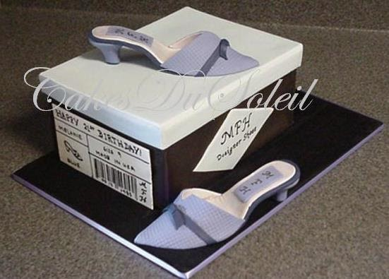 how to make a shoe box cake with open lid