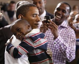 Huggin' Barack