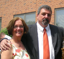 This is a 2009 photo of my beautiful wife and me