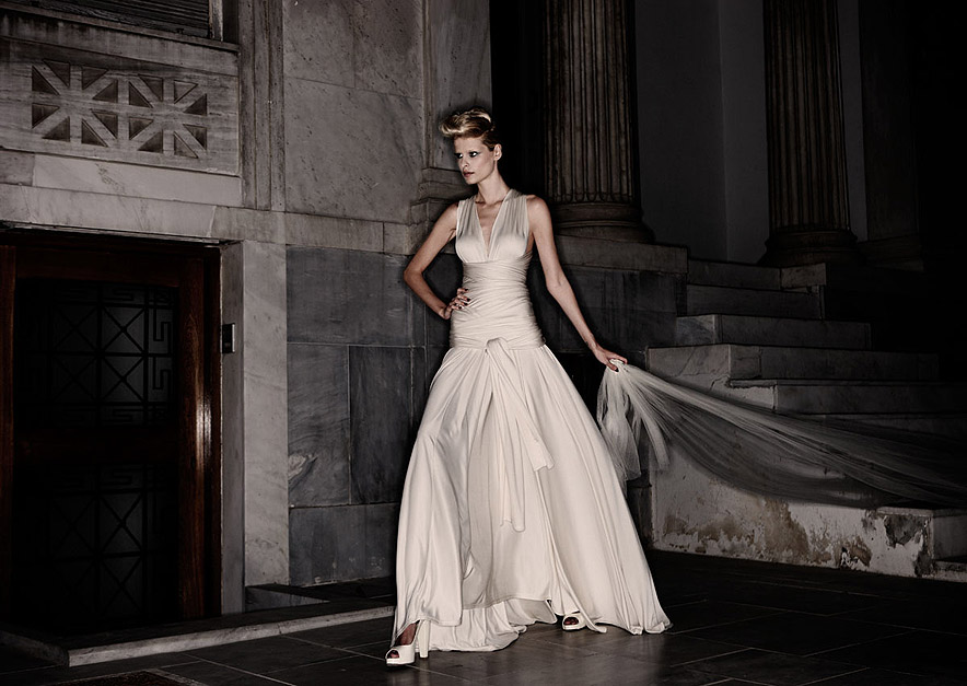 that there is taste in Greek wedding dress design and in photography