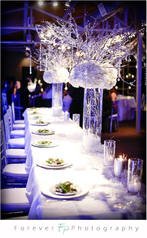 Christmas Wedding Theme White Silver princess themed wedding