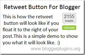 botão Retweet - Tweet Meme Instalado