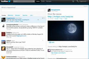 Novo Twitter é dividido em duas partes.