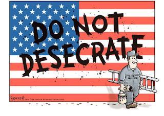 flag desecration cartoon