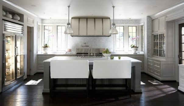 Limestone & Boxwoods Bench Seating In The Kitchen