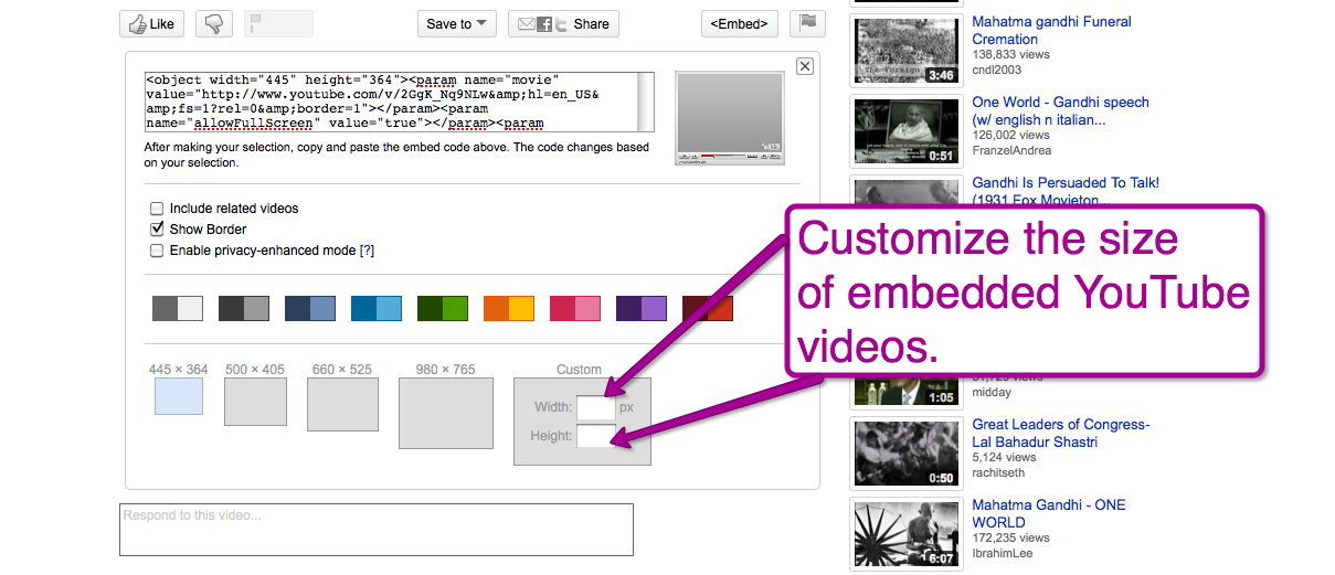 youtube video size dimensions - Siteze