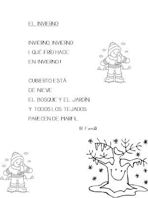 Maestra de infantil poes a for Poemas de invierno