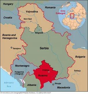 Kosovo Map Yugoslavia