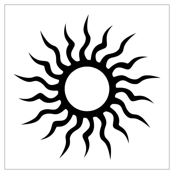 Tribal Sun Tattoo designs are commonly used