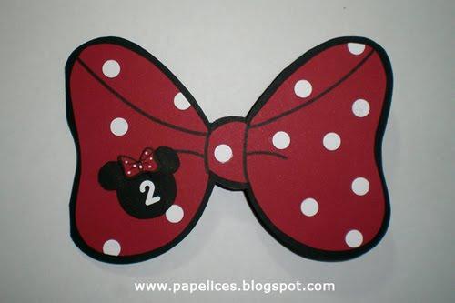 Convite La  O Da Minnie