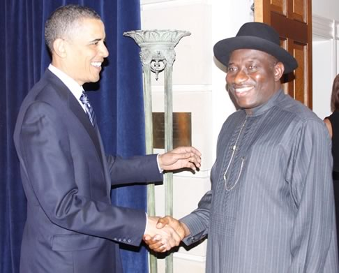 President Jonathan goodluck meets obama