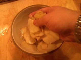 Toss the potato