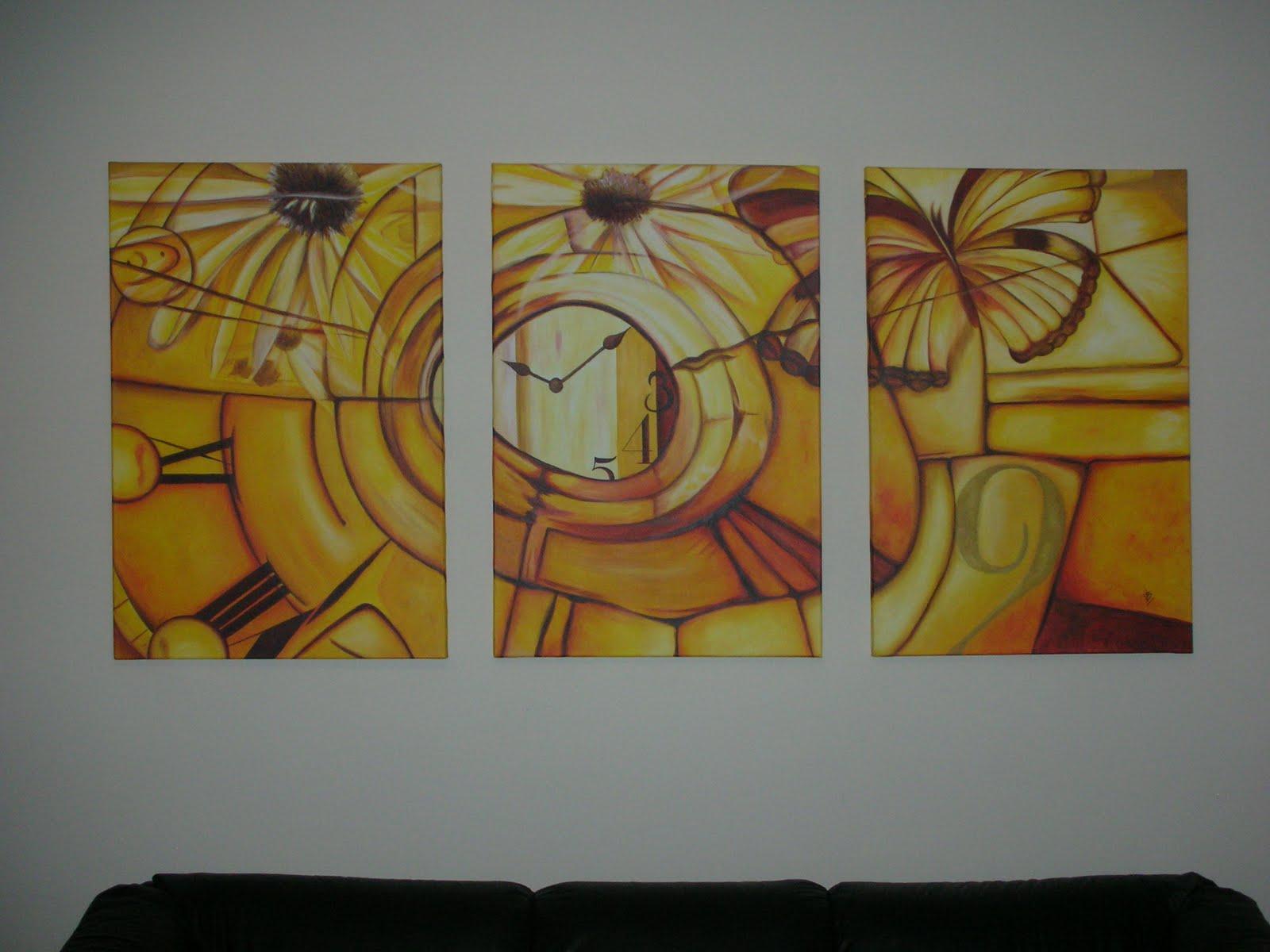Cuadros diptricos tripticos abstractos florales infantiles for Cuadros tripticos abstractos