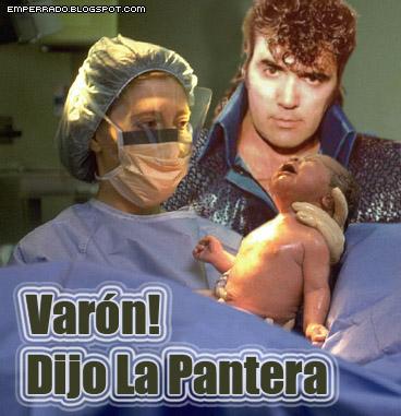 Pocho la pantera, parto, nacimiento bebe cumbia