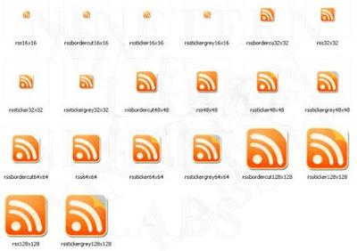 Orange RSS Icons