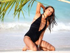 Adriana Lima at beach – Hot Wallpapers