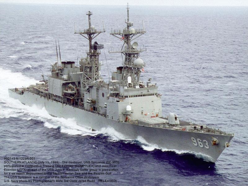 LE USS MOBILE BAY AU 700 DE CHEZ DRAGON Dd963-spruance