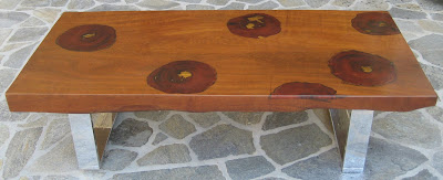 ---- CLARK Functional Art ----  Art as Furniture: Old Growth India Teak and Burma Rosewood Cocktail Table