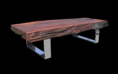 ---- CLARK Functional Art ---- Art as Furniture: Rosewood Live-edge Tall Tree Table