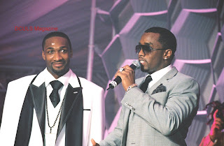 Wizards Gil Arenas and Sean 'Diddy' Combs at Arenas' 25th Birthday Party.