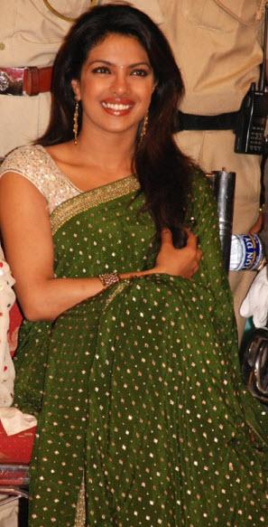 priyanka in sari